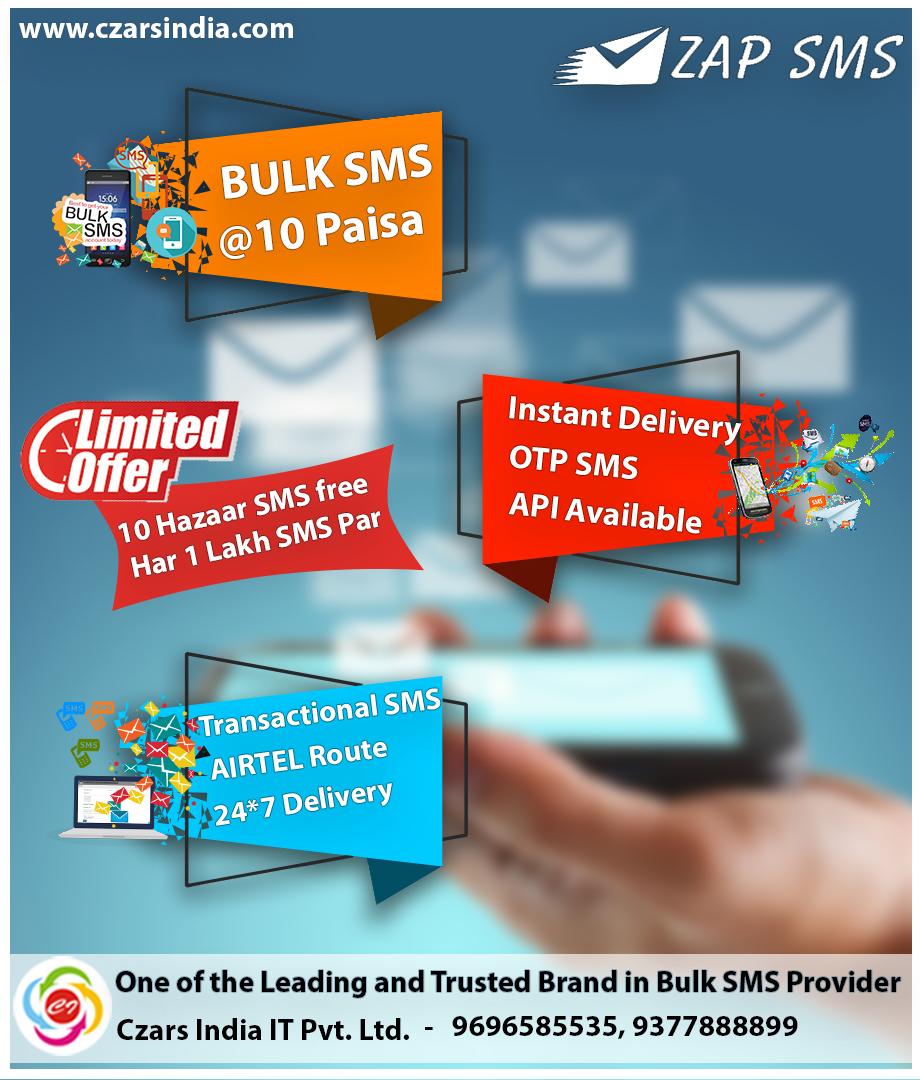 Bulk SMS Service   Bulk SMS Provider   Bulk SMS Gateway   Czars