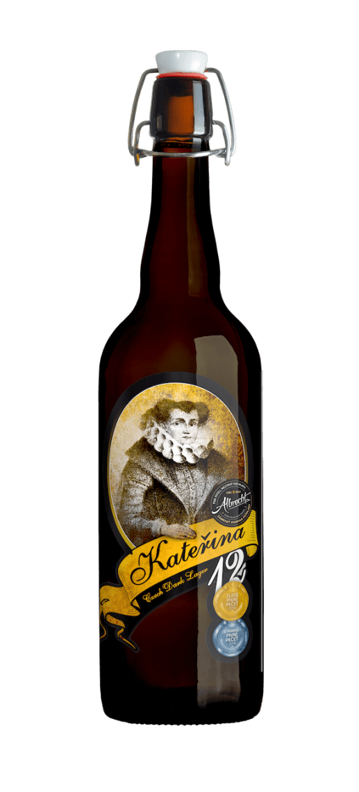 albrecht 12 katerina most awarded beer czech beer bottle