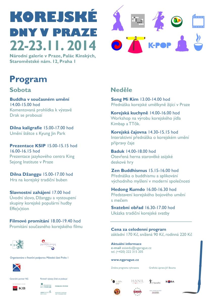 Program Korejských dnů v Praze