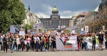 Pochod Veggie Parade 2015 v Praze.