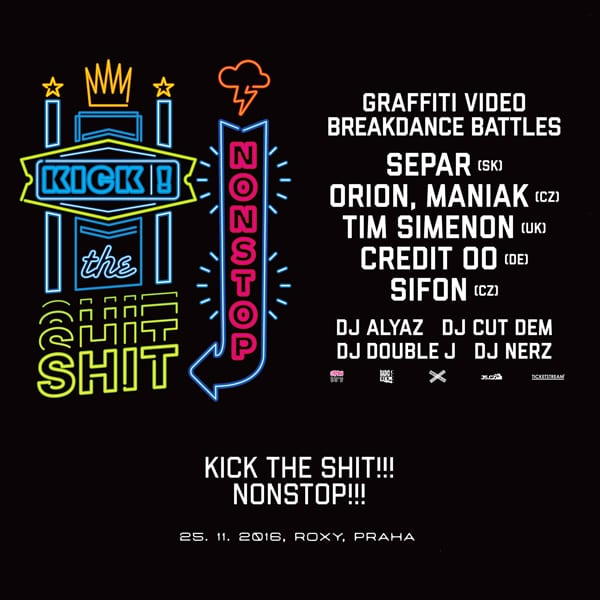 kick the shit cover poster