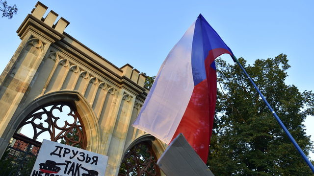 Protest rally held outside Russian Embassy - Czech Points