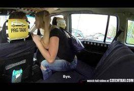 Czech Taxi – Blonde Teen gets ride of her LIFE