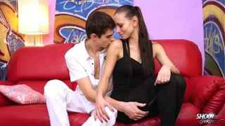 Sexy Skinny Brunette Kvetoslava Fucks Young Guy – Shoot Ourself