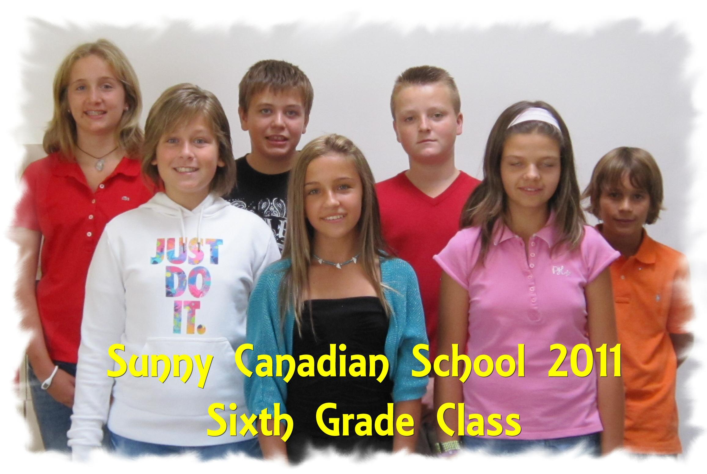 Sixth Grade Class