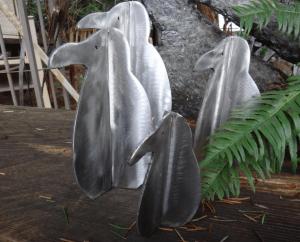 stainless metal critters by artist, inventor and designer John Czegledi