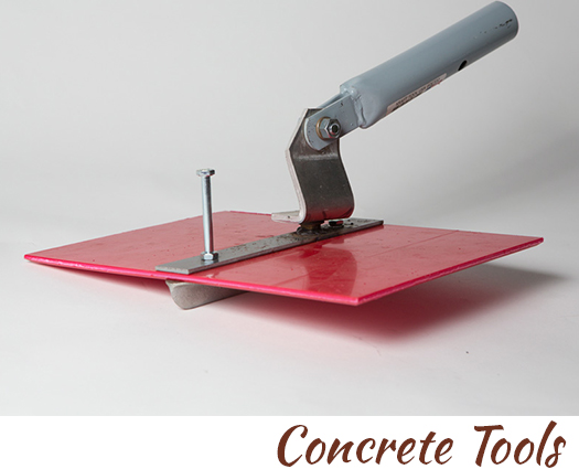 Concrete tools designed by John Czegledi, artist craftsman and concrete finished Courtenay BC