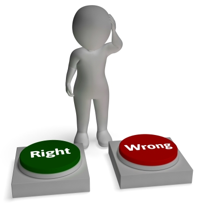 Richtige Unwissenheit und falsches Schreiben