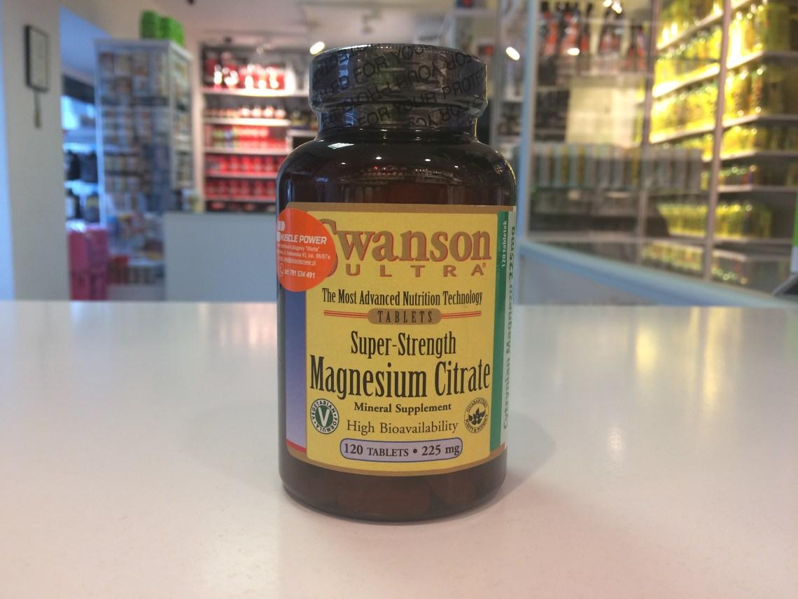 Magnesium Citrate - Swanson Muscle Power Częstochowa - sklep z suplementami i zdrową żywnością