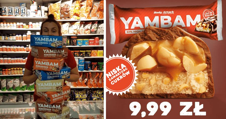 Yambamy- baton wysokobiałkowy - Body Attack Częstochowa Muscle Power. sklep z suplementami i zdrową żywnością