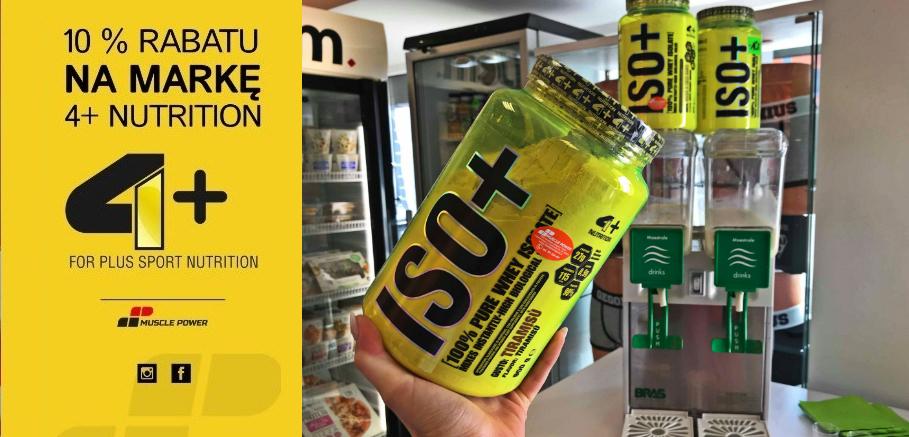 Degustacja 4+ Nutrition Muscle Power Częstochowa - sklep z suplementami diety i zdrową żywnośćią