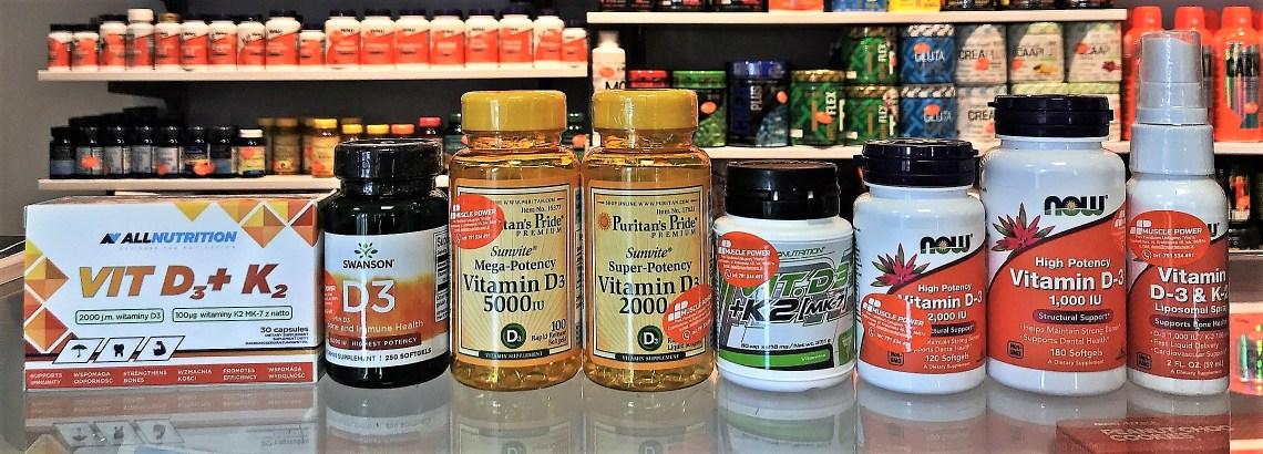 Witamina D3 - AllNutrition, Swanson, NOW Foods, Trec