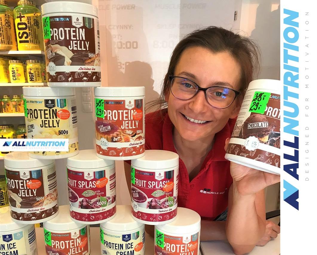 Słodycze AllNutrition w lepszych cenach- galaretki, kisiele, puddingi i lody !