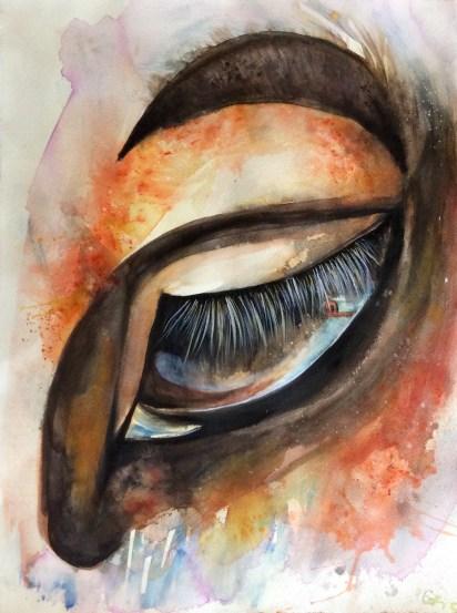 Vagabond, watercolour on paper, 63x83 cm, 2016