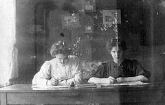 vintage women writing