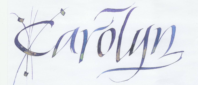 Carolyn calligraphy