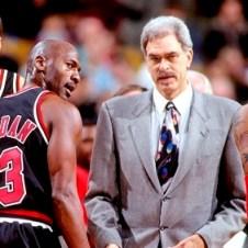 Chicago Bulls Michael Jordan and Phil Jackson 1997