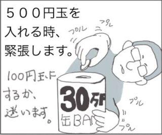 500円玉貯金。
