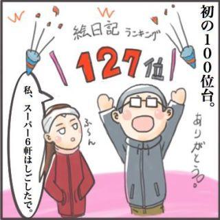 初の100位台(^^)