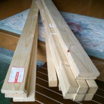 農具棚作り始めた。