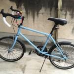 自転車(ミニベロ)をもらってきたよ。