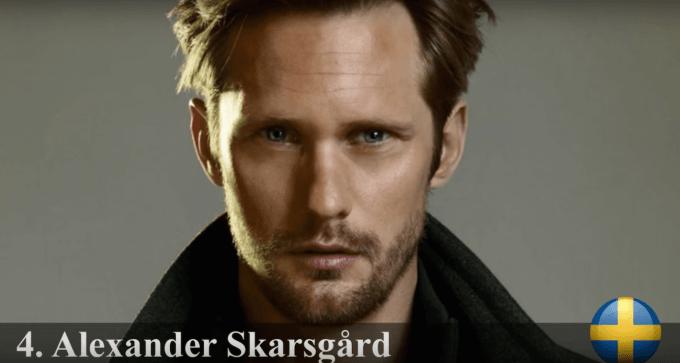 アレクサンダー・スカルスガルド 世界で最もハンサムな顔100人