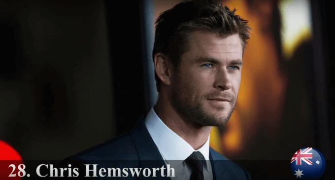 クリス・ヘムズワース 世界で最もハンサムな顔100人