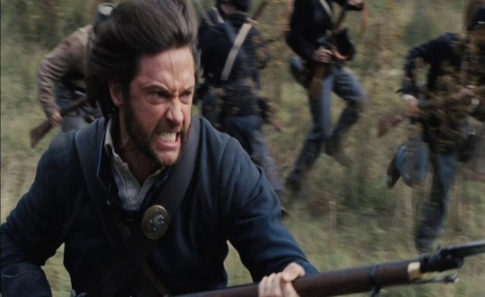 ウルヴァリンが南北戦争で戦っているところ