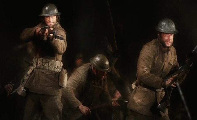 ウルヴァリンが第一次世界大戦で戦っているところ
