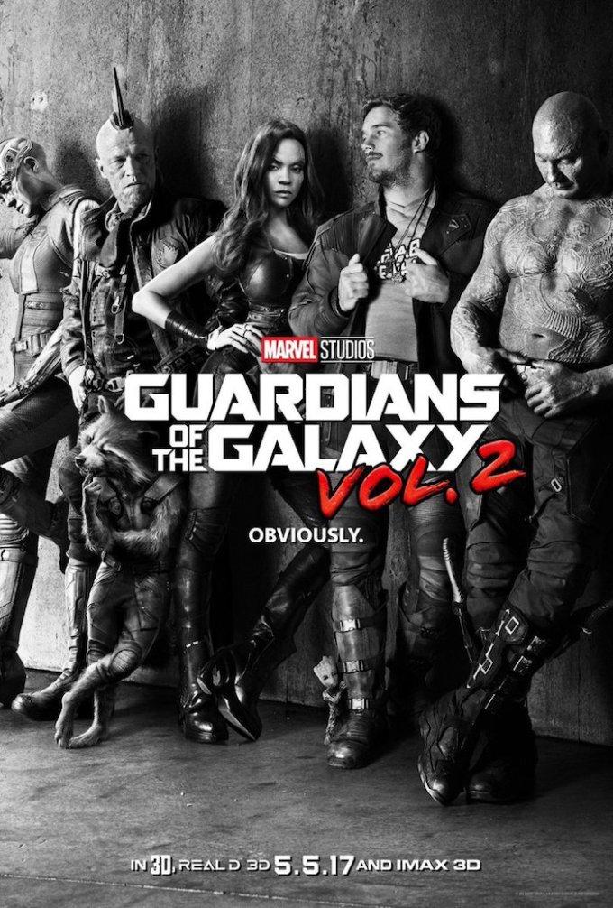 マーベル映画『ガーディアンズ・オブ・ギャラクシー: リミックス』の登場人物とポスター画像
