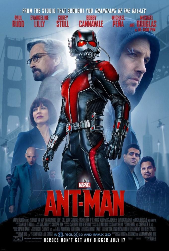 マーベル映画『アントマン』の登場人物とポスター画像