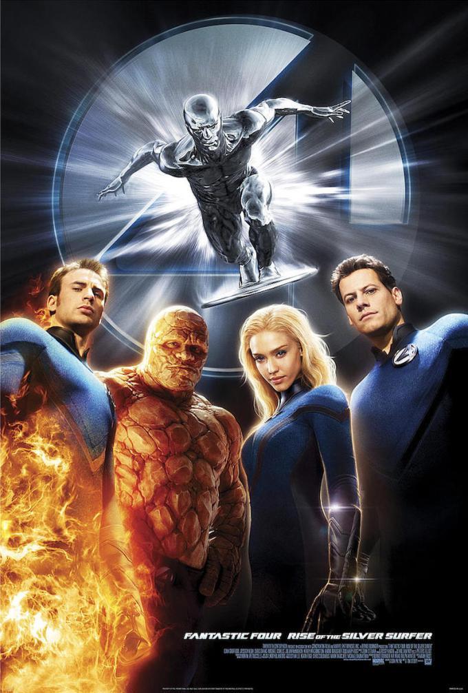 マーベル映画『ファンタスティック・フォー:銀河の危機』の登場人物とポスター画像