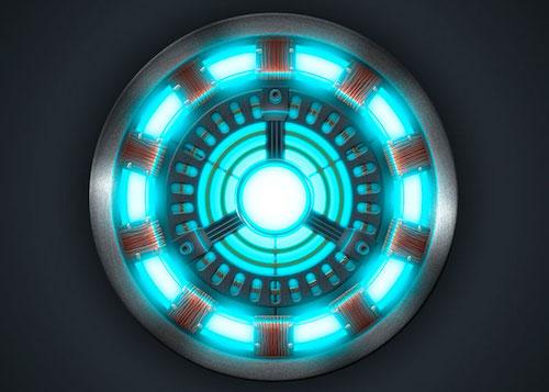 アイアンマンアーマースーツの動力源アーク・リアクターの画像