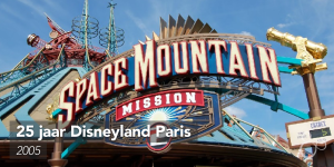 Het logo van Space Mountain: Mission 2