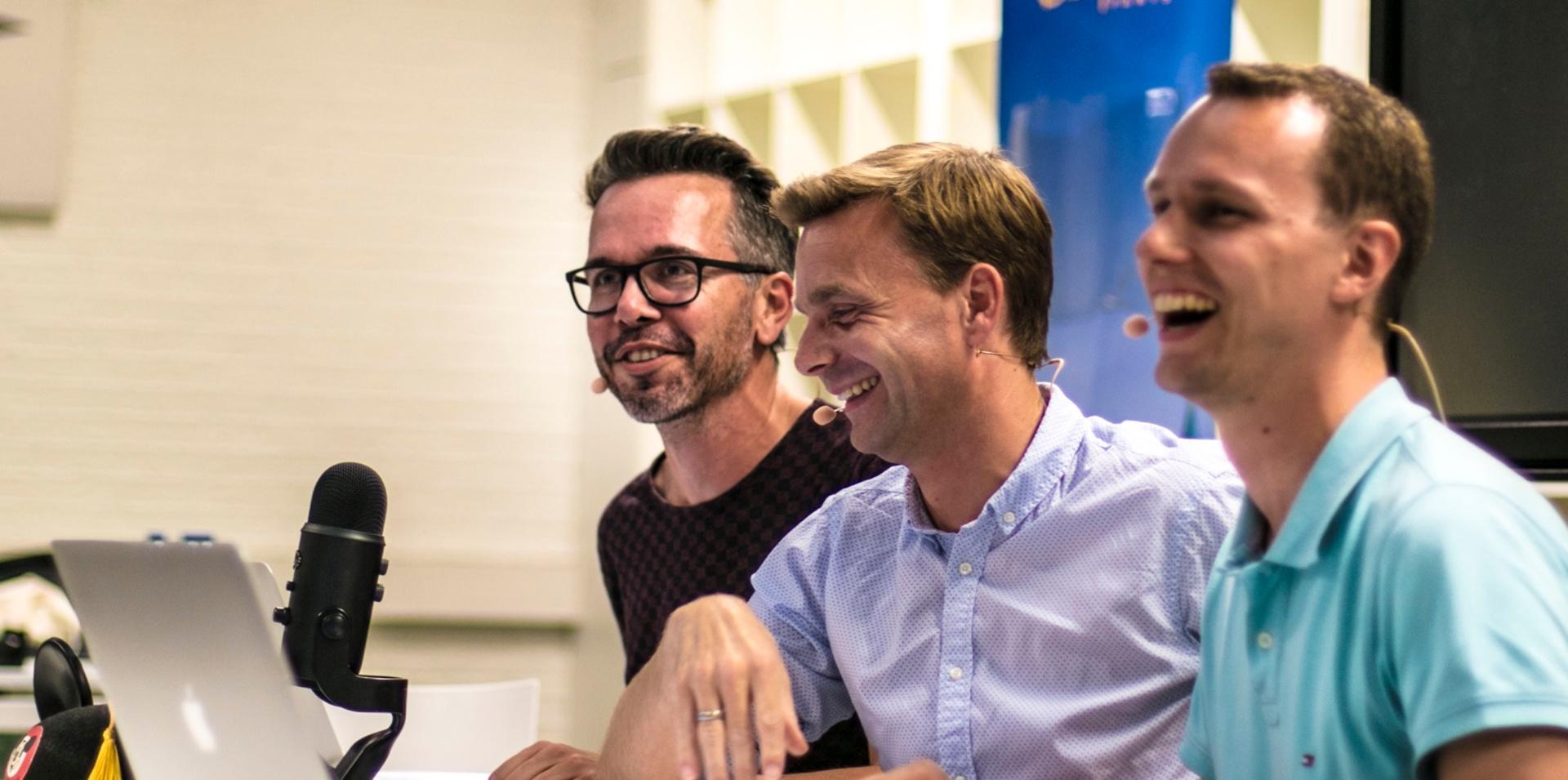 Michiel, Ralf en Jorn