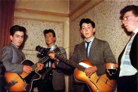 First known color photo of the Beatles (1957!)