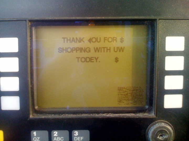 THANK <OU FOR$ SHOPPING WITH UW TODEY. $