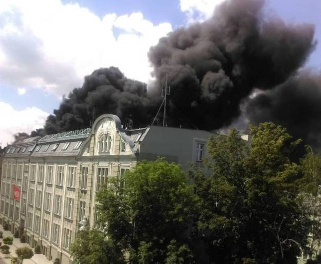 Pożar Urzędu Miasta w Raciborzu! Płonie dach magistratu