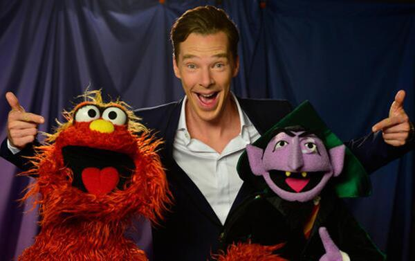 Benedict Cumberbatch naked? No. With Muppets.