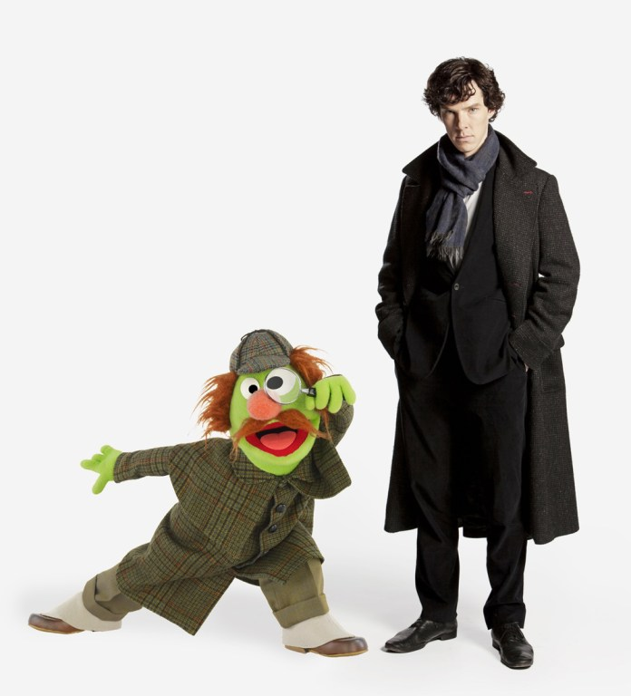 Benedict Cumberbatch on Sesame Street. Will Sherlock Hemlock be there too? Will Benedict be naked??!