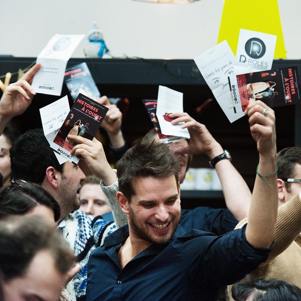 Photo lancement D-Rôles Production Vincent Escure