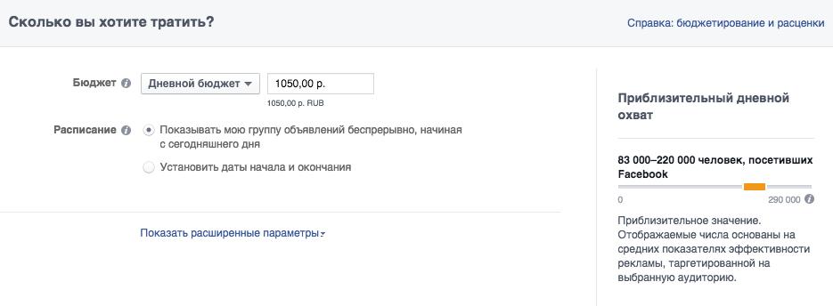 Расчет дневного бюджета в 1050 руб