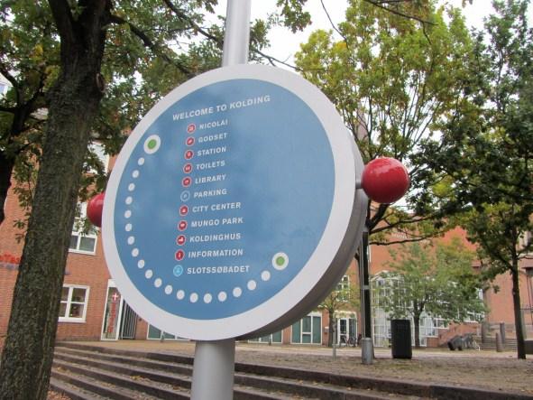 wayfinding i Kolding er nytænkende skiltedesign udført af D-sign Tegnestuen og design tegnestuen