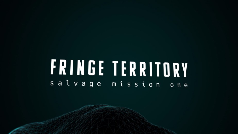 From the sci-fi short film Fringe Territory: Salvage Mission One. Title art.