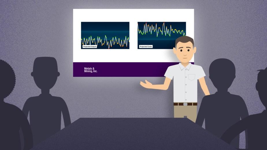 From an explainer video for IBM Cognitive Plant Advisor. Board Room.