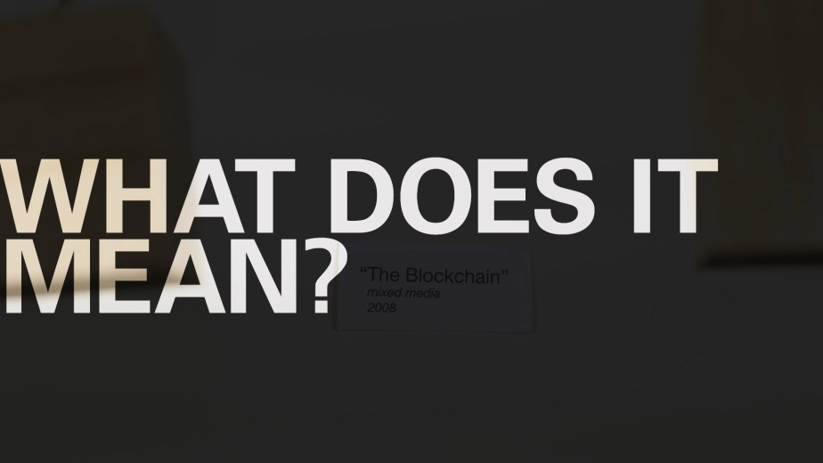 Blockchain. From my technology shorts, a video campaign for Superlux.