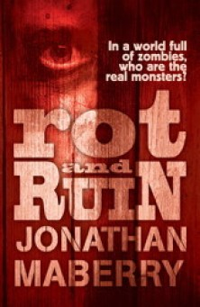 Rot & Ruin (Rot & Ruin, #1) Paperback Illustration for Horror Book Cover Wars