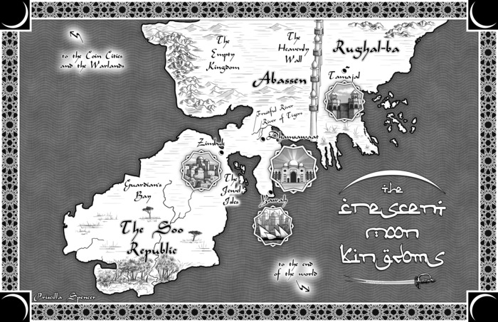map of the crescent moon kingdoms