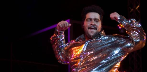 O ator Tiago Abravanel durante ensaio da peça Tim Maia - Vale Tudo, o Musical (1º/8/11)