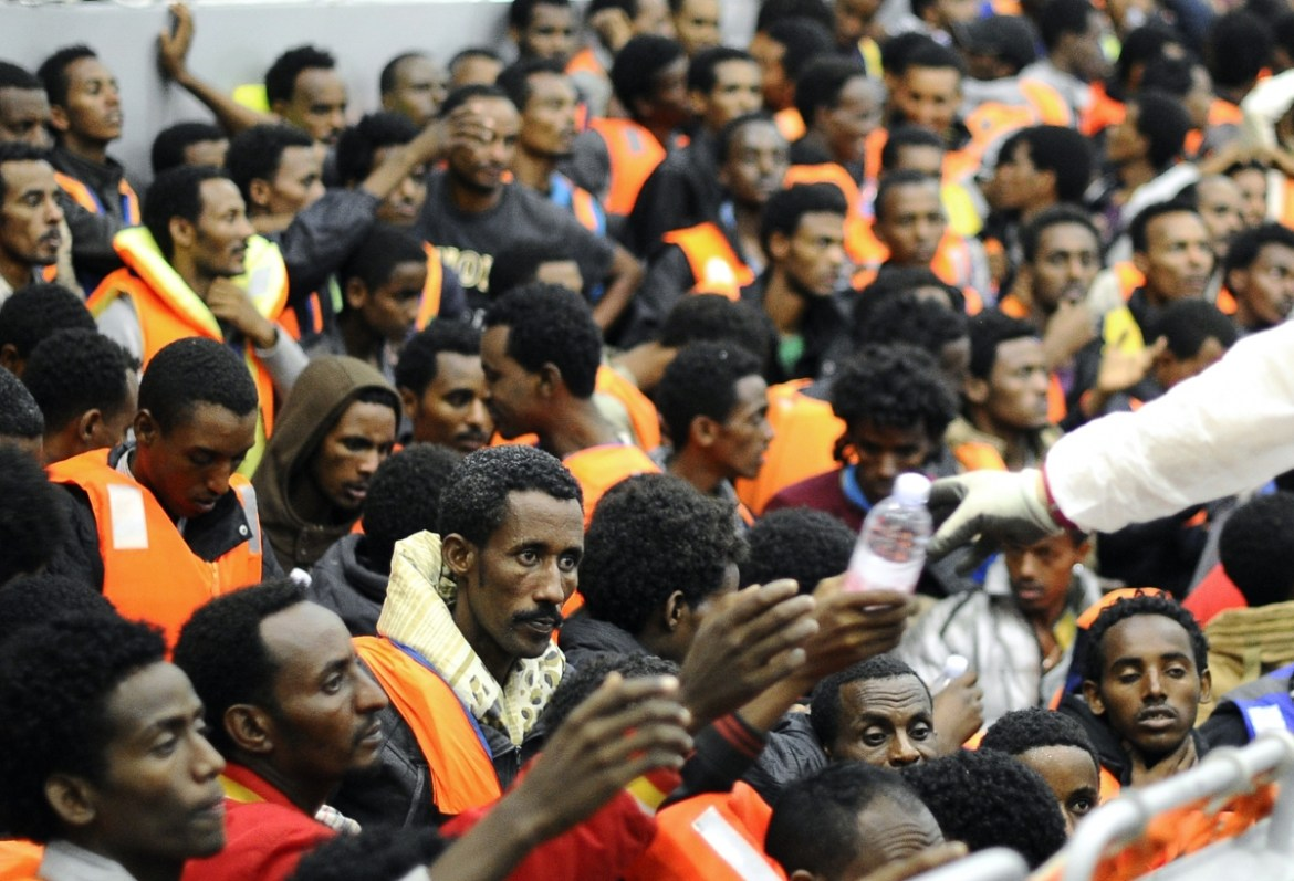 Image result for migrants in italy going north